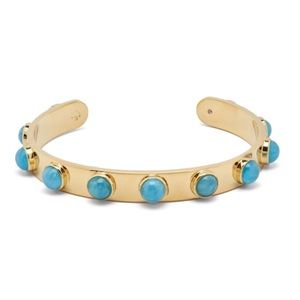 KATE SPADE • Tag Along Cuff Bracelet • Turquoise